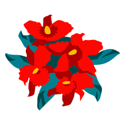 Flowery bouquet colorful illustration