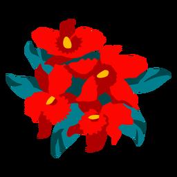 Ilustración colorida ramo florido