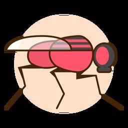 Icono de mosca insecto