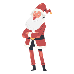 Folded arms christmas santa claus