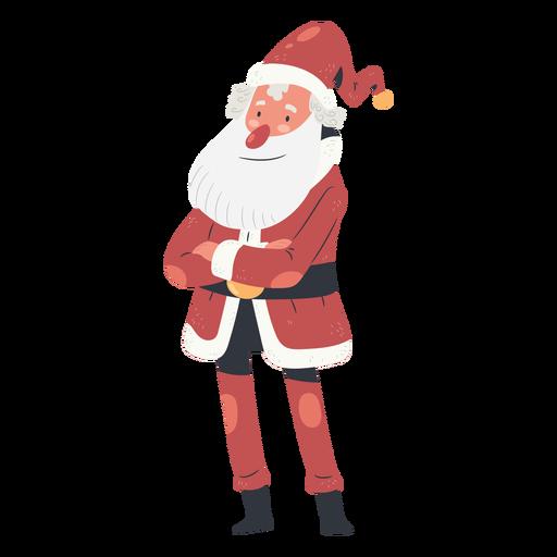 Folded arms christmas santa claus