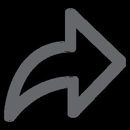 Ícone de seta para a frente plano