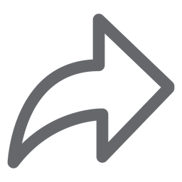 Icono de flecha hacia adelante plano