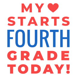 Fourth grade back to school lettering