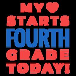Letras de regreso a la escuela de cuarto grado
