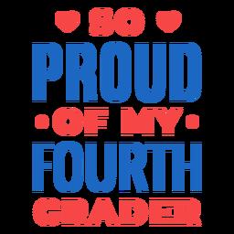 Letras orgullosas de cuarto grado