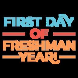 Citação de primeiro dia do primeiro ano