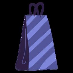 Embalagem de listras com ilustração de sacola