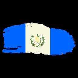 Guatemala brushy flag design