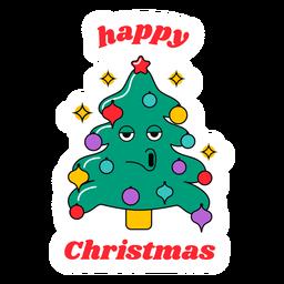 Feliz natal desenho de árvore engraçada