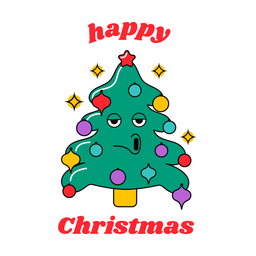 Happy christmas funny tree design