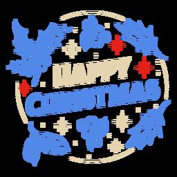 Feliz navidad diseño de muérdago