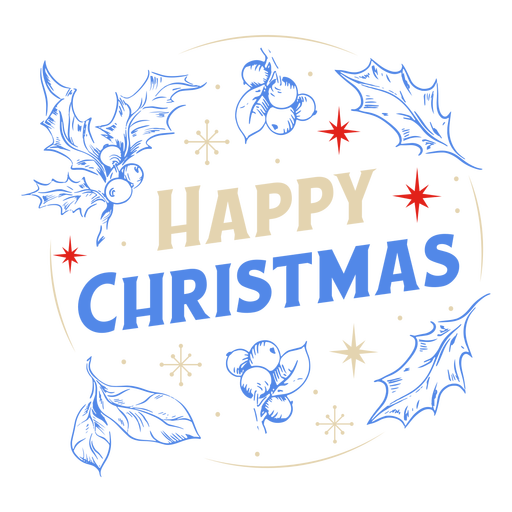 Happy christmas mistletoe design Transparent PNG