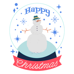 Desenho de boneco de neve feliz natal