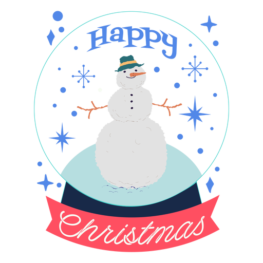 Happy christmas snowman design