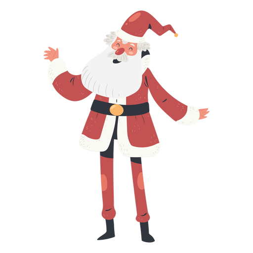 Happy santa claus character illustration Transparent PNG