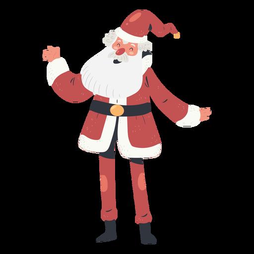 Ilustração do personagem feliz papai noel Transparent PNG