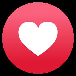 Diseño plano del icono del corazón