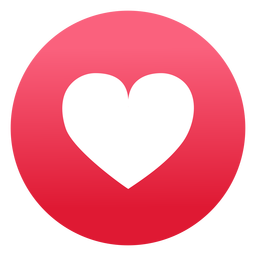 Heart icon flat design