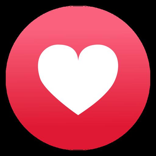 Design plano do ícone de coração