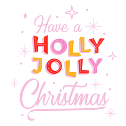 Holly jolly christmas lettering