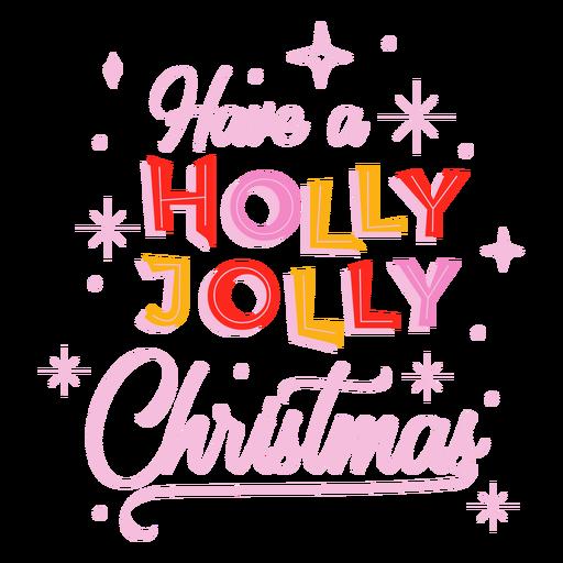 Letras de Natal Holly Jolly Transparent PNG