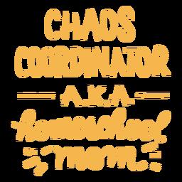 Letras de caos de la escuela en casa