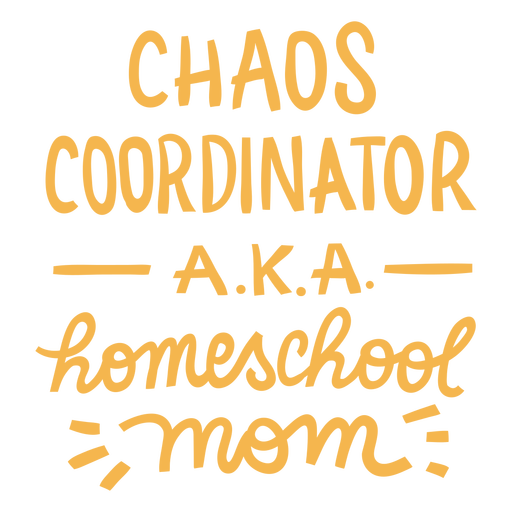Home school chaos lettering