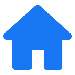 Diseño plano del icono de inicio