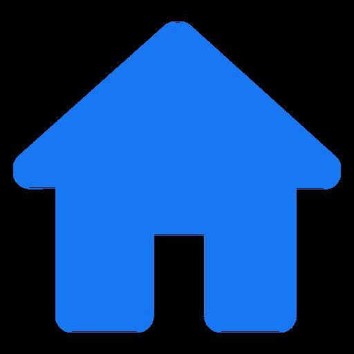 Diseño plano del icono de inicio Transparent PNG