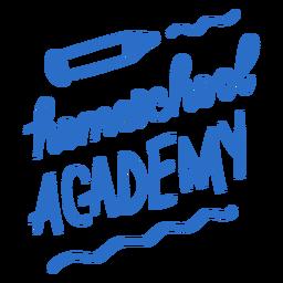 Letras de la academia de educación en el hogar