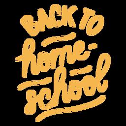 Letras de volta ao ensino doméstico