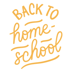 Letras traseras de educación en casa