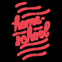 Diseño de cursiva de educación en el hogar