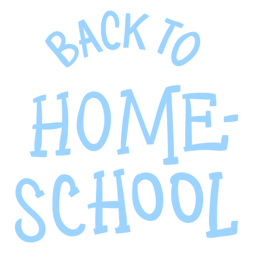 Diseño de letras de educación en el hogar