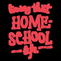 Projeto de citação de vida escolar em casa