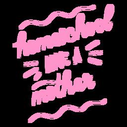 Educación en casa como una madre