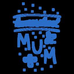 Diseño floral de la mamá de la escuela en casa