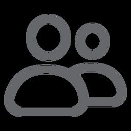 Icono de personas planas
