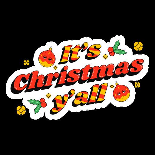 Es insignia de letras navideñas