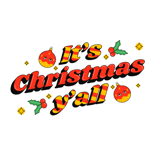It's christmas lettering badge