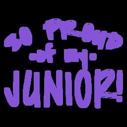 Letras orgulhosas do primeiro ano