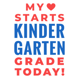 Kindergarten grade back to school lettering