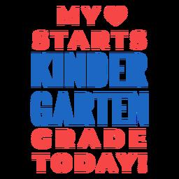 Letras do jardim de infância de volta à escola