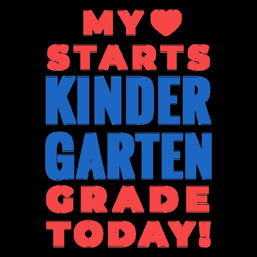Grado de jardín de infantes a letras de la escuela