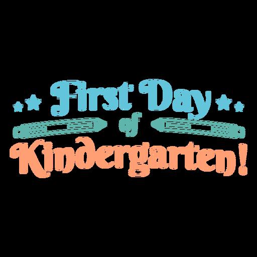 Cotação do primeiro dia do jardim de infância