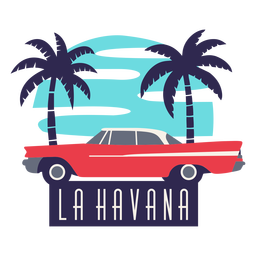 La havana traditional car flat design