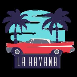 La havana traditional car flat design