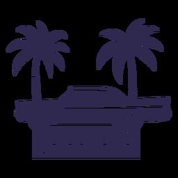 Ilustração do carro tradicional La havana