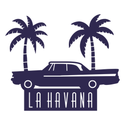 La havana traditional car illustration